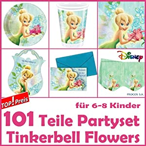 Dekospass tinkerbell flowers kit de 101 piezas para for Diseno piezas infantiles
