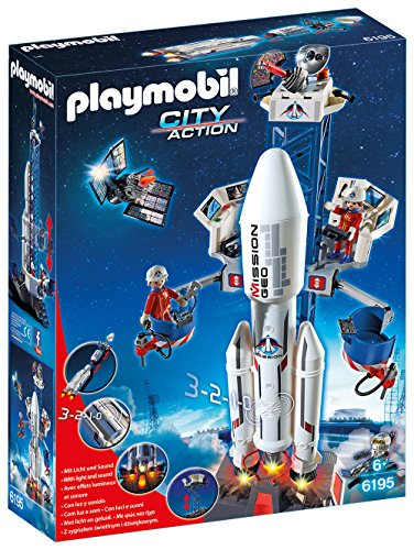 PLAYMOBIL Space Rocket with Launch Site Building Kit