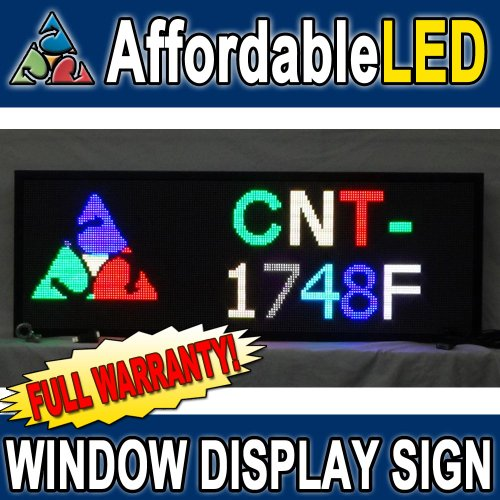 Programmable Scrolling Led Sign - Indoor Display - 17 Inch (H) X 48 Inch (W) (Multi-Color)