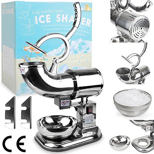 WYZworks Commercial Heavy Duty Ice Shaver with 2 Extra Blades - 440lb/h Sno Snow Cone Shaved Icee Maker Machine (Ice Shaver Commercial compare prices)