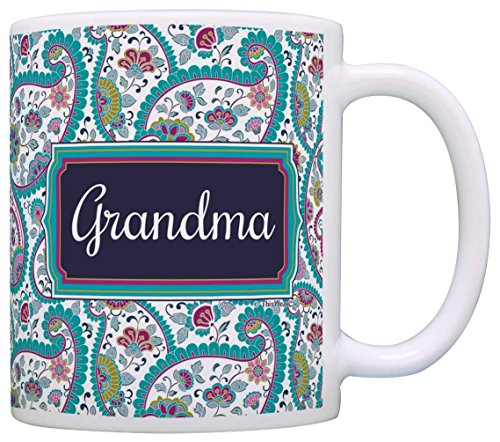 Mother's Day Gift for Grandma Birthday Gift Gift Coffee Mug Tea Cup Paisley (Paisley Coffee Mug compare prices)