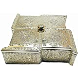Kp Swastik Multi Purpose Snacks And Dryfruits Serving Tray With Silver Lid(small)