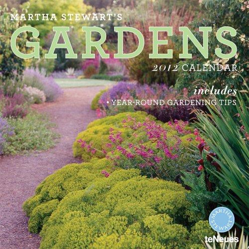 2012 Martha Stewart's Gardening Wall Calendar