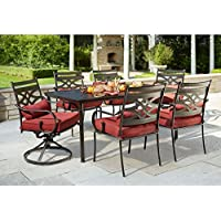 Hampton Bay Middletown 7-Piece Patio Dining Set with Dragonfruit Cushions