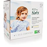 Eco by Naty Baby Wipes, Unscented, 3 Counts of 56 (168 Count) (Tamaño: 168 Count)