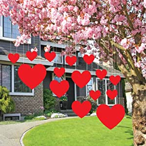 Valentine 39 S Lawn Decorations Hanging Hearts