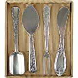 Boxed Set of 4 Zinc Alloy Cheese Serving Utensils