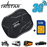 (Free SIM) TKSTAR GPS Tracker-3G Real Time Vehiche Tracking Device Anti-Lost Geofence Vibration Alarm for Car Motorcycle Truck, Waterproof GPS Locator with Strong Magnet TK905
