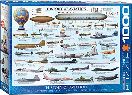 EuroGraphics History of Aviation Puzzle (1000-Piece) (1000 Piece Airplane Puzzle compare prices)