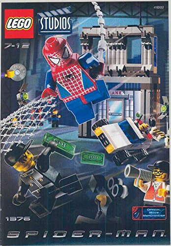 "INSTRUCTION MANUALS for Lego Studios Set #1376 ""SPIDER-MAN ACTION STUDIO"" - 1"
