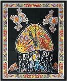 "1 X 54""X86"" Psychedelic Mushroom Tapestry"