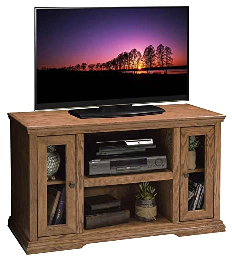 43.75 in. TV Cabinet in Golden Oak Finish