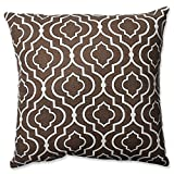 Pillow Perfect Donetta Throw Pillow, 18-Inch, Chocolate