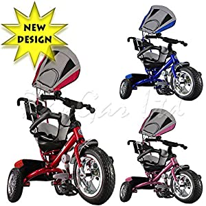 Kiddo 2016 Smart Design 4-in-1 Childrens Tricycle Kids Trike 3 Wheel Bike Parent - New