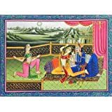 "Dolls Of India ""Nautch Girls With The King"" Reprint On Paper - Unframed (34.29 X 24.77 Centimeters)"