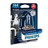 PHILIPS H4 Motorcycle Bulb 12V 60/55W P43t-38 BlueVision Moto 12342BVUBW Single