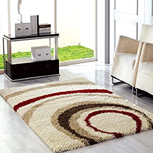 Ustide red high pile carpet for home and for Living room rugs amazon