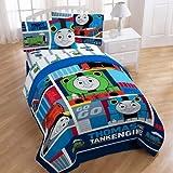 "Mattel Thomas The Tank Engine Fun 72"" x 86"" Reversible Twin/Full Reversible Comforter"