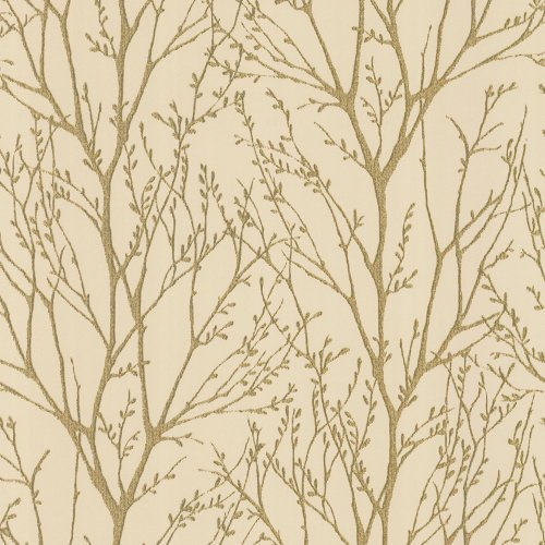 I Love Wallpaper Shimmer Wallpaper Metallic Gold / Cream