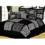 Empire Home Safari 7-Piece Comforter set- All Colors / All Sizes ON SALE Till End of The Month (Queen Size, Black)