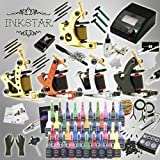Complete Tattoo Kit Inkstar Ace C 5 Machine Gun Power Supply with 40 Color Truecolor Starter Ink