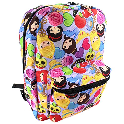 Princess Emoji Print Backpack