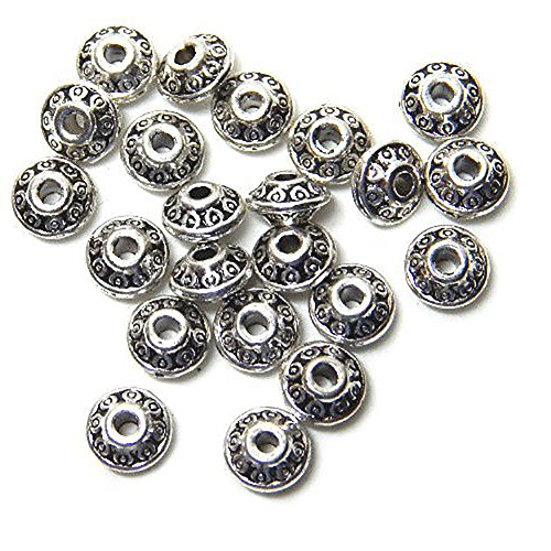 Luxury & Custom {4 x 6mm w/ 1.5mm Hole} of Approx 50 Individual Loose Small Size Rondelle