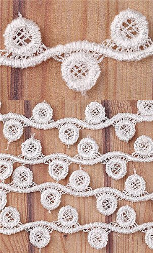5 Yard Eyelet Pattern Lace Trim Sewing On 1/2'' Inch I0130-1