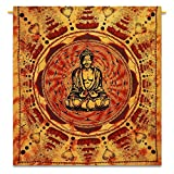 Buddha Indian Blanket Bohemian Tapestry Hippie Wall Art India 92X82 Indian Gift