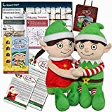 2015 Elf Adventures Boy Girl Elf Soft Toy Activity Gift Set Reward Chart Letter from Santa Activities Santa Stop Here Sign for Elf on the Shelf