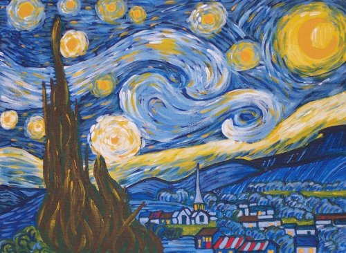 Van Gogh A STARRY NIGHT Acrylic Paint