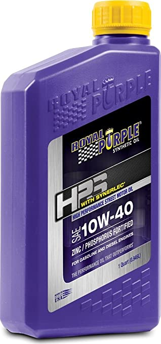 Royal Purple 36140-6PK HPS 10W-40 Synthetic Motor Oil with Synerlec Additive Technology