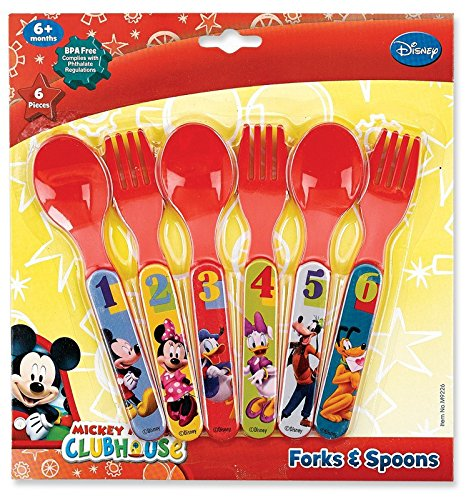 Mickey Mouse Six Piece Fork & Spoon Set - 1