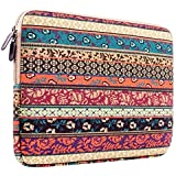 Laptop Sleeve, PLEMO Bohemian Style Canvas Fabric 11-11.6 Inch Netbook / Laptop / Notebook Computer / MacBook Air Sleeve Case Bag Cover, Mystic Forest