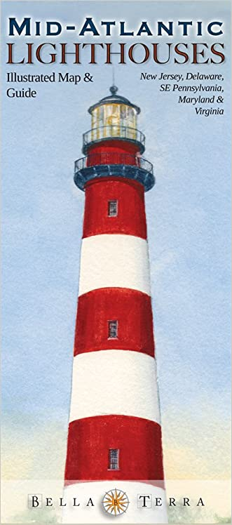 Mid-Atlantic Lighthouses: Illustrated Map & Guide