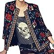 ipretty Women Printing Flower Jacket Long Sleeve Round Neck Cardigans