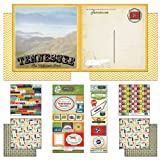 Scrapbook Customs Themed Paper and Stickers Scrapbook Kit, Tennessee Vintage