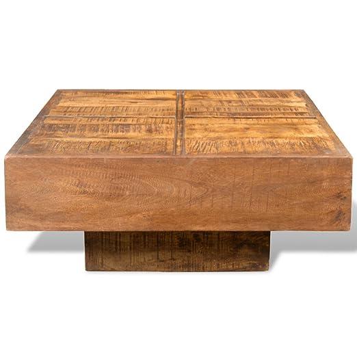 Festnight Tavolino da Salotto Antico Tavolino da Caffè in Legno di Mango Antico Marrone