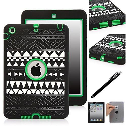 Elv iPad Mini Case, E LV iPad Mini Case Cover Shock Absorption / High Impact Resistant Hybrid Dual Layer Armor Defender Full Body Protective Case Cover [Compatible with iPad Mini with Retina