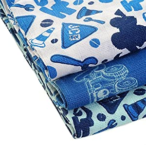 Zippy JCB Muslin Squares in Stylish Blues (3 Pack, Boxed Gift Set) from Zippy Baby Limited