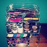 Acrylic Makeup Cube Organizer Makeup Case 4-Drawer Mini A4M