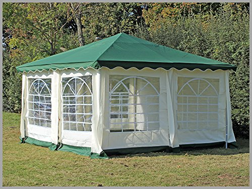 pavillon 4x4m de luxe polyester gr n partyzelt 4x4m verkaufszelt wasserdicht. Black Bedroom Furniture Sets. Home Design Ideas