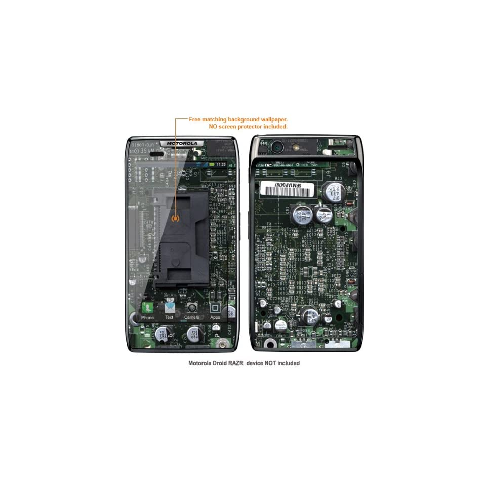 "Protective Decal Skin Sticker for Verizon Motorola Droid Razr MAXX (ONLY fit ""MAXX"" version) case cover DrazrMAXX 604 Cell Phones & Accessories"