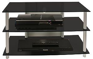 VCM 14125 TVMöbel Sindas LCD Rack, LED Tisch, aluminium / schwarzglas    Kritiken und weitere Informationen