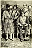 1883 Wood Engraving Sher Ali Khan Afghanistan Lord Mayo Richard Bourke Meeting - Original In-Text Wood Engraving
