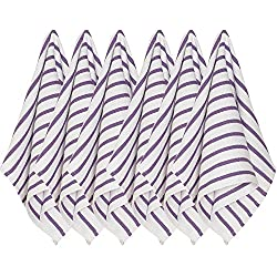 Now Designs Basketweave Kitchen Towel, Set of Six, Prince Purple