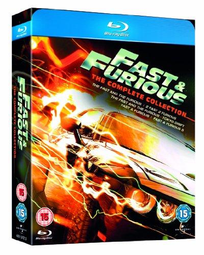 Fast & Furious 1-5 Box Set [Blu-ray] [Region Free]