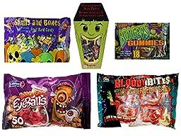 Ultimate Halloween Candy Bundle - 5 Different Spooky Candies (Eyeballs, Body Parts, Skulls, Blood Bites & Boogers)