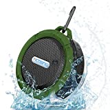 VicTsing® Wireless Bluetooth 3.0 Waterproof Outdoor / Shower Speaker, with 5W Speaker/Suction Cup/Mic/Hands-Free Speakerphone - Army Green