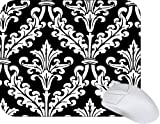 Black and White Color Damask Design Mouse Pad Mousepad - Ideal Gift for all occassions! [Mouse Pads]